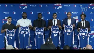 Sixers Introduce new/re-signed players such as Tobias Harris, Al Horford, Josh Richardson and more.