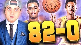 THE 82-0 CHALLENGE : LOS ANGELES LAKERS!! Warriors Are A Problem! NBA 2K17 MyLeague Rebuild