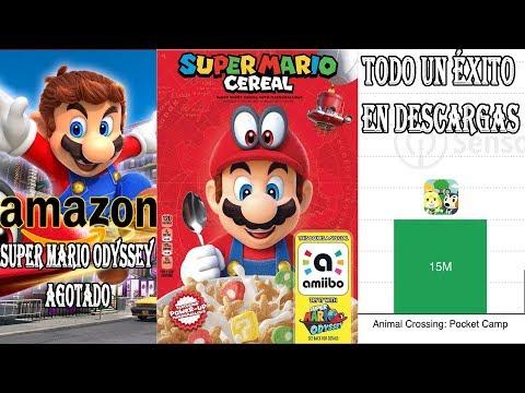 SUPER MARIO ODYSSEY AGOTADO EN AMAZON - MARIO EN CEREAL - ÉXITO DE ANIMAL CROSSING EN CELULARES