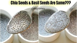 Chia Seeds & Basil Seeds (Sabja) Are The Same? – Quick Weight Loss With Chia Seeds – Health Benefits