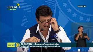 31.03.2020 - Estamos AO VIVO: Acompanhe a coletiva de imprensa do governo federal sobre as ações de enfrentamento no combate ao novo #coronavírus, direto do Palácio do Planalto. -------------------------  Bem-vindo ao canal TV BrasilGov no YouTube. Aqui você acompanha as ações e notícias do Governo Federal. ** INSCREVA-SE NO CANAL: https://bit.ly/3ay7WBM E siga a gente nas nossas redes sociais Facebook: @tvbrasilgov Instagram: @tvbrasilgov Twitter: @tvbrasilgov