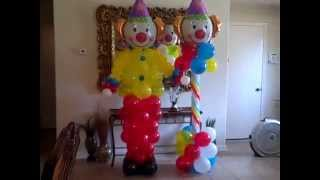 Circus Themed Birthday Party Balloons