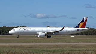 Philippine Airlines Airbus A321-271NEO [RP-C9930]   Inaugural   Brisbane Airport