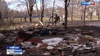 В Краснодаре снесли незаконные гаражи, а на их месте выросла свалка