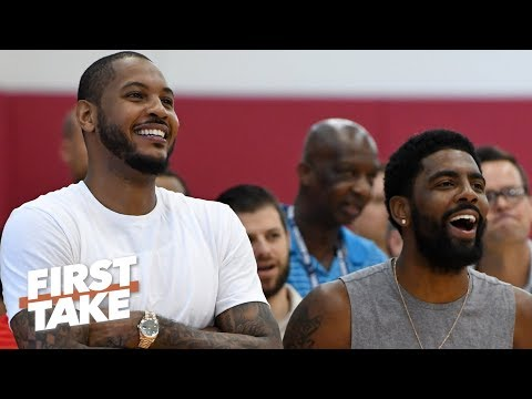 Carmelo Anthony has reportedly been working out with Nets players | First Take