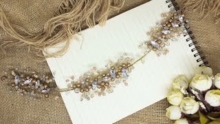 DIY Hairvine | Tutorial How To Make A Hairpiece Crystal Beads