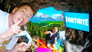 Ultimate Gaming Fort in the Woods! *Hidden Cave*