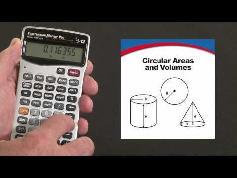 Construction Master Pro - Circular Area & Volume