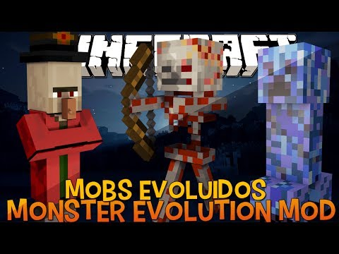 Mobs Evoluídos e  Mais Fortes ( Nuclear Creeper) - Monster Evolution Mod Minecraft