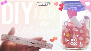 DIY Simple Gift - Message in a jar