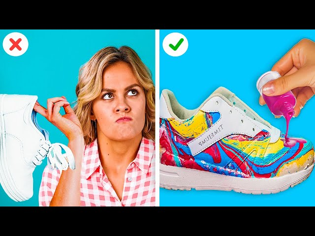 EASY FASHION HACKS FOR GIRLS || DIY Clothes Projects by 123 GO! GOLD