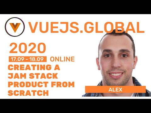 Image thumbnail for talk Creating a JAM Stack product from scratch