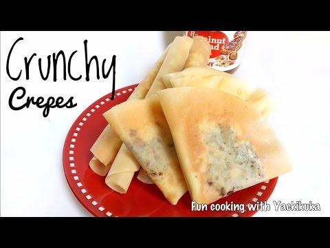 Video RESEP Crepes Renyah * Crunchy Crepes Recipe