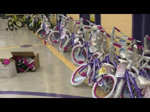 Kids ride off with new bikes for Christmas, thanks to Detroit nonprofit