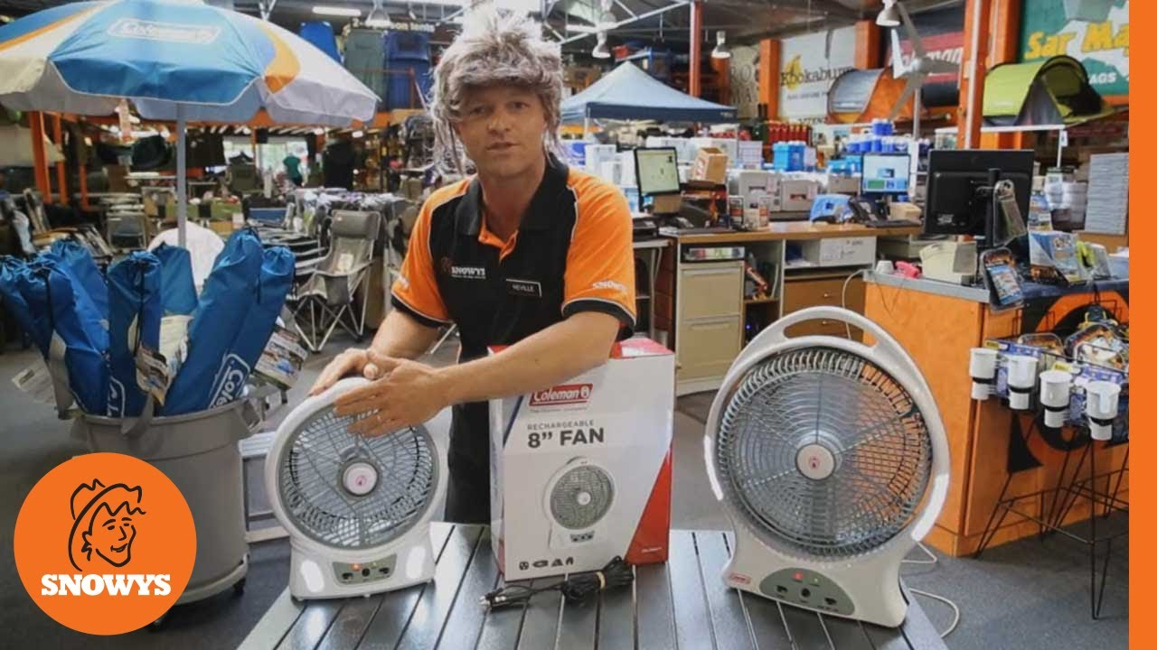 Rechargeable Fan with LED 12""