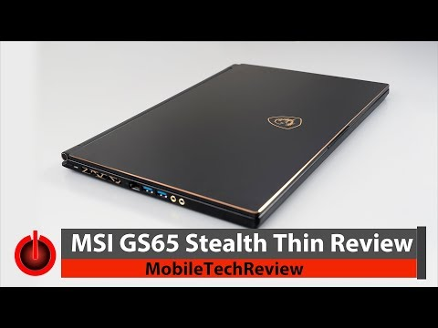 MSI GS65 Stealth Thin – Lightest GTX 1070 Max-Q Laptop