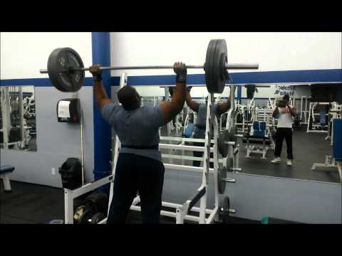 IRON Biby 335 pounds shoulder press, 135 pounds dumbell press and CURL