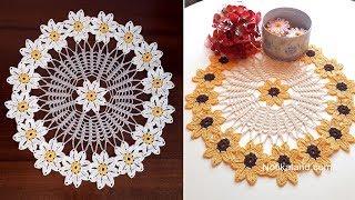 CROCHET Flower Tutorial EASY  Doily Pattern  Part 4