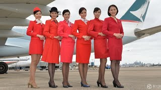 你喜愛國泰空姐哪個年代的制服??...兩分鐘認識國泰航空CX,回顧過去大半世紀不同時代的制服設計.