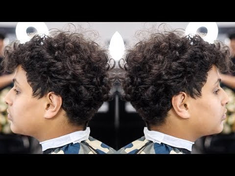 HAIRCUT TUTORIAL: CURLY TOP TAPER