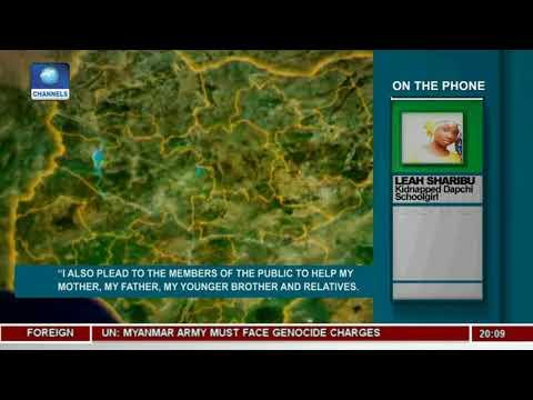 Abducted Dapchi Schoolgirl Asks Buhari To Free Her