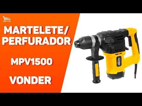 Martelete Perfurador Rompedor SDS Plus 1500W 5,5J  - Video