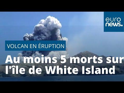 Nouvelle-Zélande : 5 touristes meurent sur un volcan qui est entré en éruption
