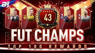 TOP 100 FUT CHAMPIONS REWARDS! RED IF PLAYER PICKS! | FIFA 19 ULTIMATE TEAM