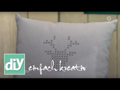 Kissenbezüge mit herbstlichen Motiven besticken | DIY einfach kreativ