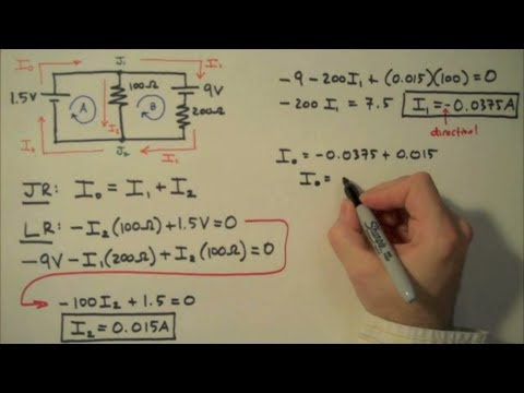 How to Solve a Kirchhoff's Rules Problem