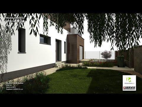 Návrh zahrady a model domu