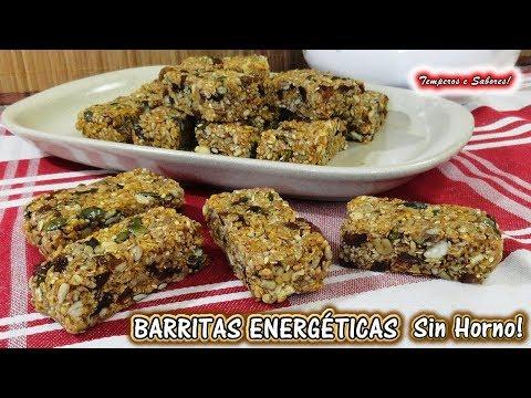 BARRITAS ENERGÉTICAS Multi Cereales y sin Horno, Saludables y fáciles de hacer