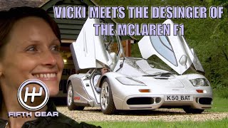 Vicki Meets the designer of the McLaren F1 | Fifth Gear Classic by Fifth Gear