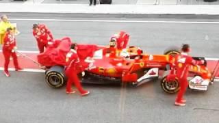 F1 2017 | Barcelona Test 1, Day 3 - The recovery of Sebastian Vettel's Ferrari SF70H