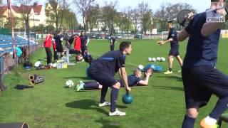 preview picture of video 'Trening z Pogonia Szczecin/ Training mit Pogon Szczecin'