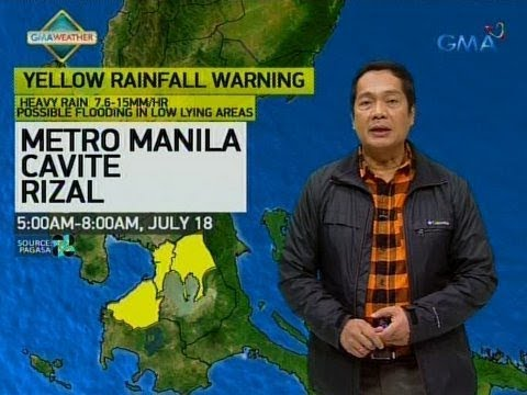 [GMA]  UB: Weather update as of 5:54 a.m. (July 18, 2018)