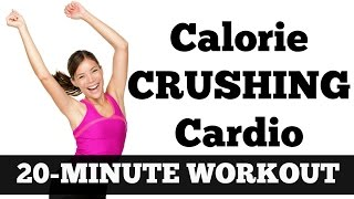 20-Minute Calorie Crushing Cardio | Full Length Fat Blasting, Metabolism Boosting Workout Video by jessicasmithtv