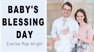 BABY'S BLESSING DAY