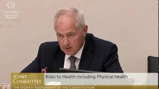 Dr Peter Boylan at the Oireachtas Commitee on the Eighth Amendment