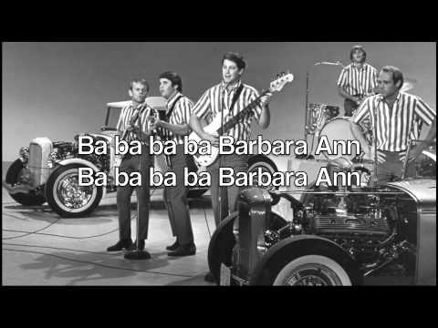 Barbara Ann The Beach Boys With Lyrics Otherwise Known As The