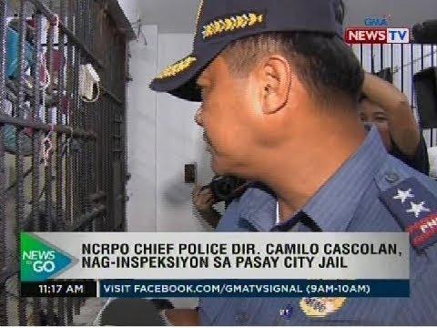 [GMA] NTG: NCRPO Chief Police Dir. Camilo Cascolan, nag-inspeksyon sa Pasay City jail