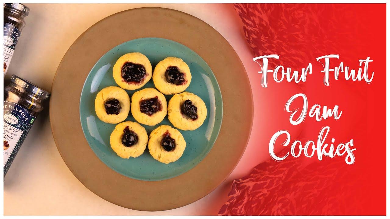 Four Fruit Jam Cookies Youtube Video