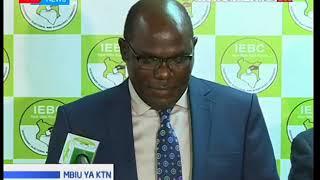 IEBC Chairman Wafula Chebukati addresses the media after crisis meeting on CEO Chiloba's suspension