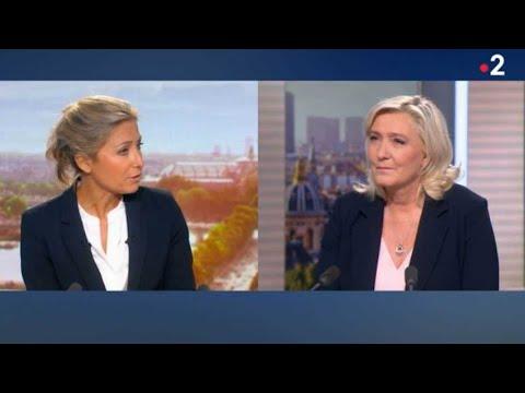 Anne-Sophie Lapix (JT 20H) : mise en péril sur France 2, sanctionnée par Marine Le Pen