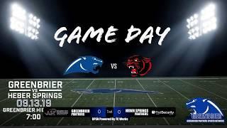Greenbrier Panther Football vs Heber Springs