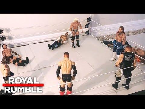 Royal Rumble Match: WWE Royal Rumble 2018: WWE Action Figure Stop Motion (видео)