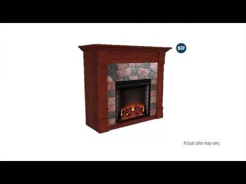 FE9281: Elkmont Electric Fireplace - Mahogany Assembly Video