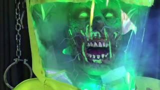 Hazmat Zombie Fog Prop TIME-LAPSE UnBoxing / Setup - Spirit Halloween 2017