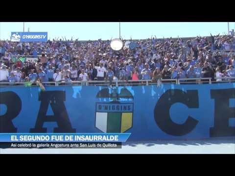 """""""La celebración de la hinchada celste ante San Luis"""" Barra: Trinchera Celeste • Club: O'Higgins"""