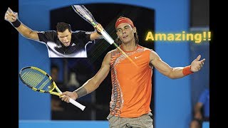Tennis - The Day Tsonga Was UNSTOPPABLE vs Nadal!